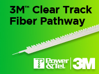 Power & Tel 3M Clear Track Fiber Pathway